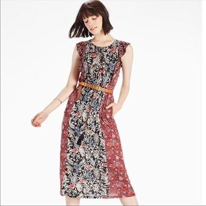 Lucky Brand Mix Floral Mid length Dress